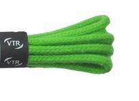 Tkaničky bavlněné kulaté silné 120 cm zelená