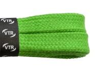 Tkaničky bavlněné ploché 120 cm zelená