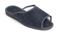 Manžestrové pantofle pánské s otevřenou špičkou 7-20086