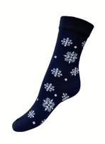 Art. 8 Klasické dámské PRAVÉ VALAŠSKÉ ponožky Modrotisk Vločka Knebl Hosiery