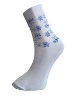 Art. 8 Klasické dámské PRAVÉ VALAŠSKÉ ponožky Modrá kytka Knebl Hosiery