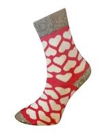 Art. 16 Zimní thermo ponožky červené s bílými srdíčky Knebl Hosiery