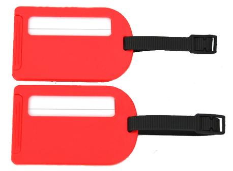 BZ 4066 štítek na kufr red